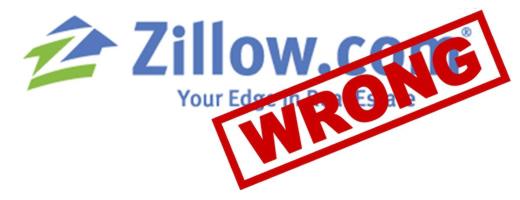 Zillow home value wrong Santa Barbara